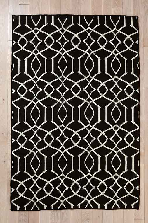 Wool Flat Weave Iron Gate Rug