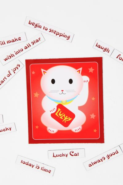 Lucky Cat Magnetic Poetry Set