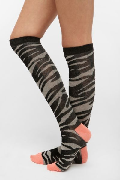 Animal Print Knee-High Sock