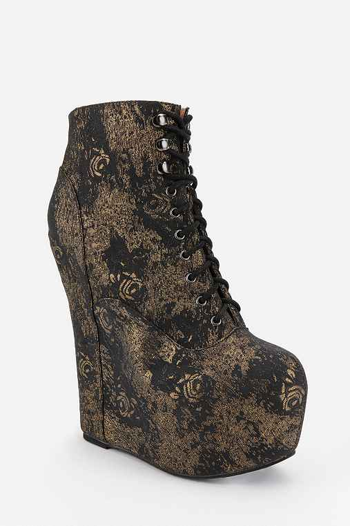 Jeffrey Campbell Metallic Flowers Damsel Platform Boot