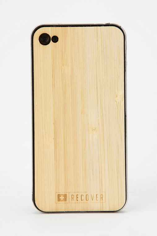 Recover Wood iPhone 4/4s Front/Back Skin