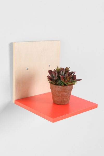 Assembly Home Neon Angled Wall Shelf