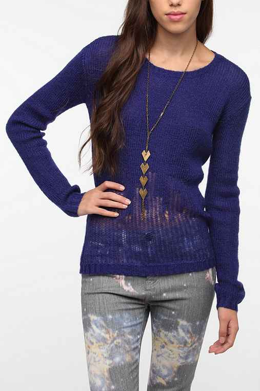 Sparkle & Fade Drop Needle Pullover Sweater