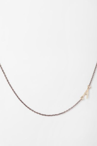 Sideswept Initial Necklace