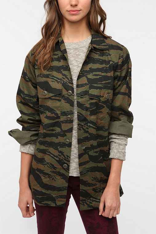 Urban Renewal Vintage Tiger Camo Jacket