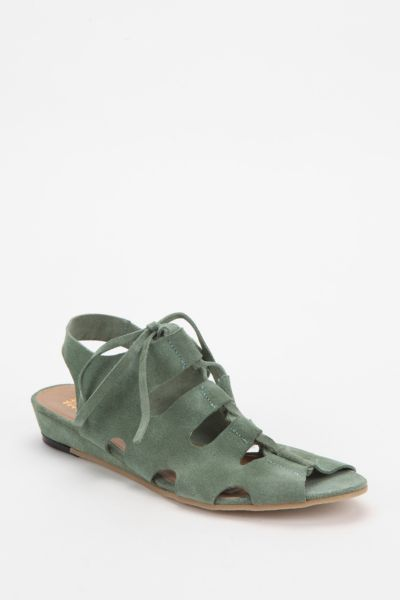 Deena & Ozzy Suede Lace-Up Sandal