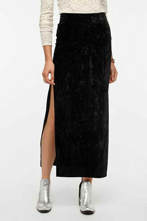 Evil Twin Cursed Velvet Maxi Skirt
