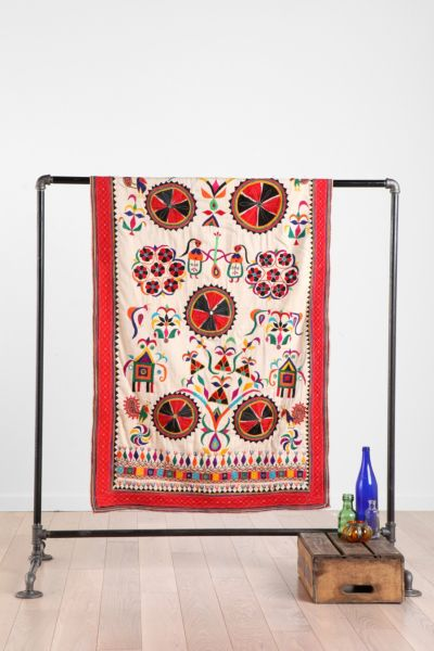 One-Of-A-Kind Embroidered Wall Hanging