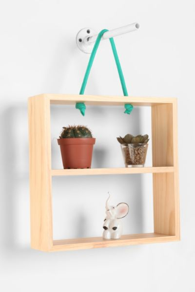 Hanging Rope Rectangle Shelf