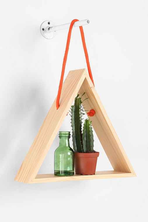 Hanging Rope Triangle Shelf