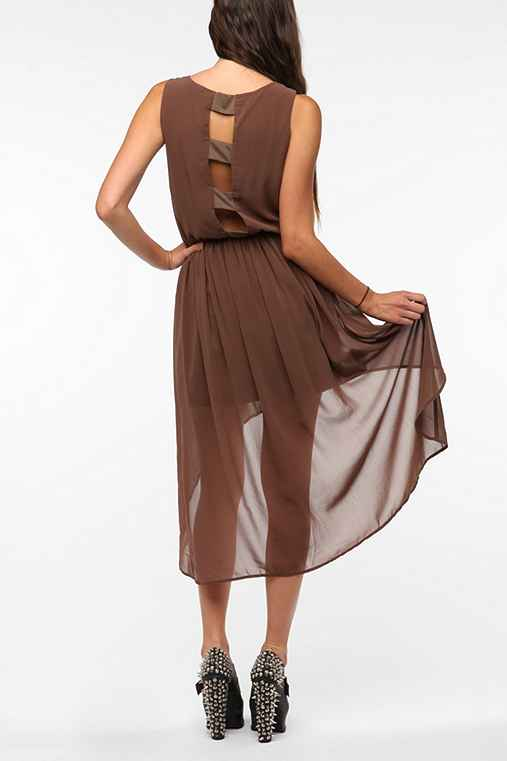 Chiffon Open Back High/Low Dress