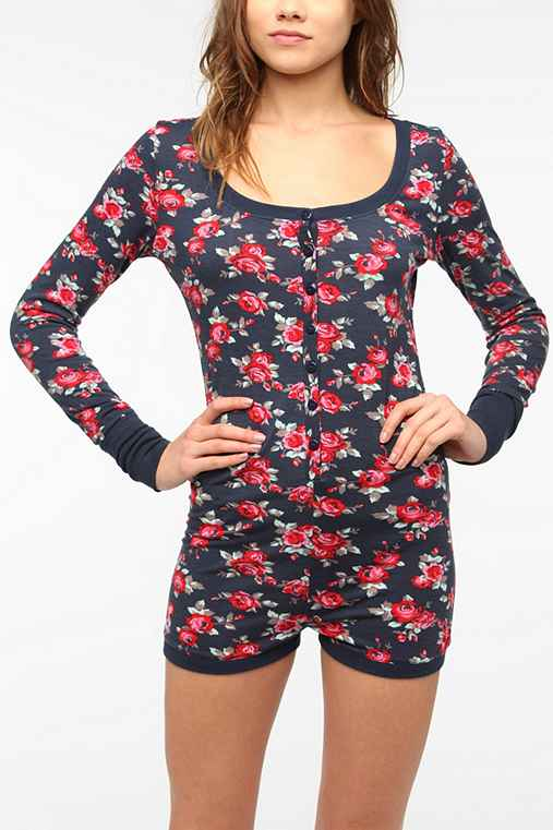 BDG Floral Button-Down Romper