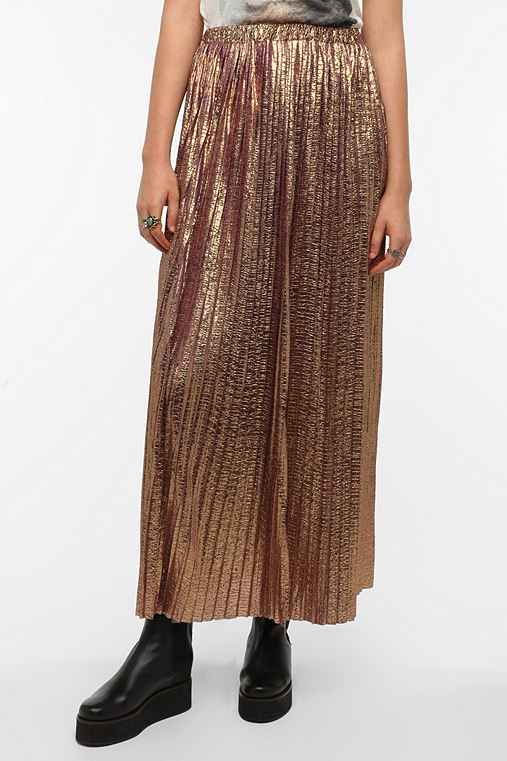 Hazel Metallic Maxi Skirt
