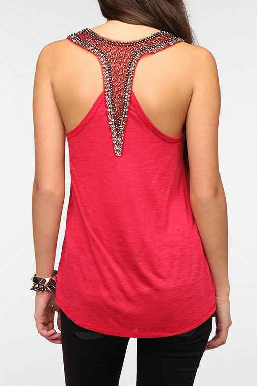 Sparkle & Fade Bead-Embellished Racerback Tank Top