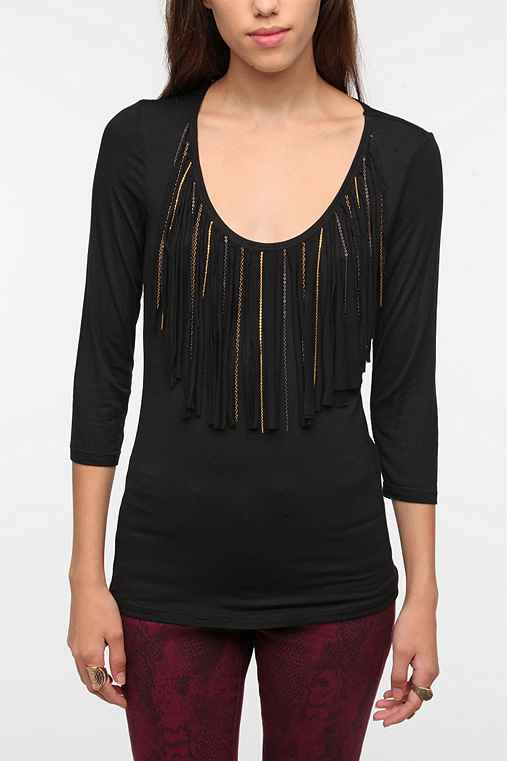 Sparkle & Fade Fringe Top