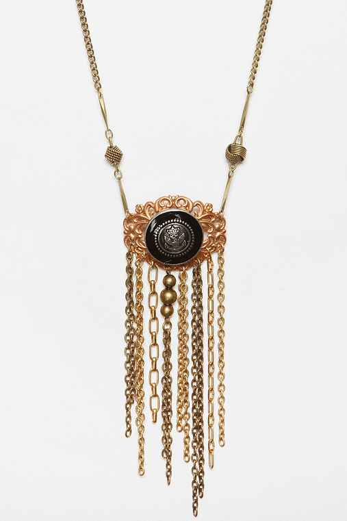 Urban Renewal Button Chain Necklace