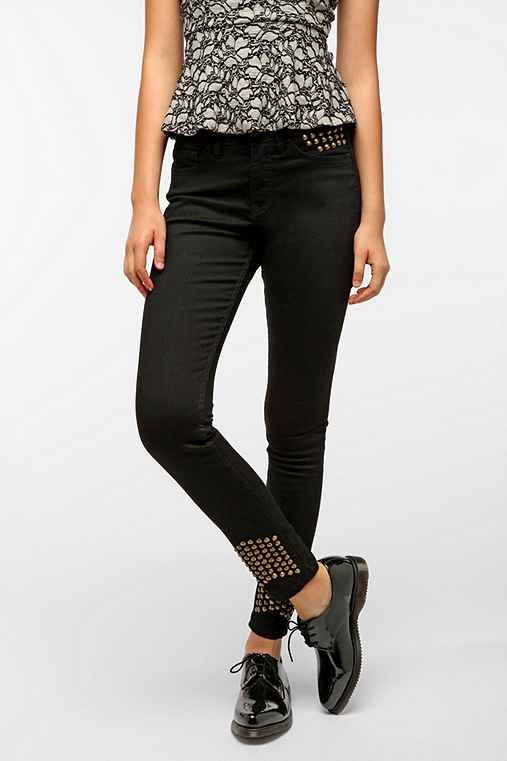 BDG Cigarette High-Rise Jean - Cone Studded