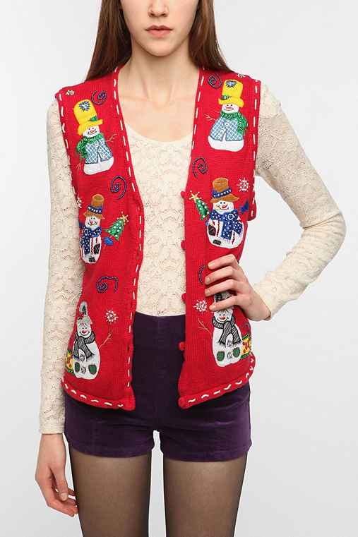 Urban Renewal Vintage Ugly Holiday Vest