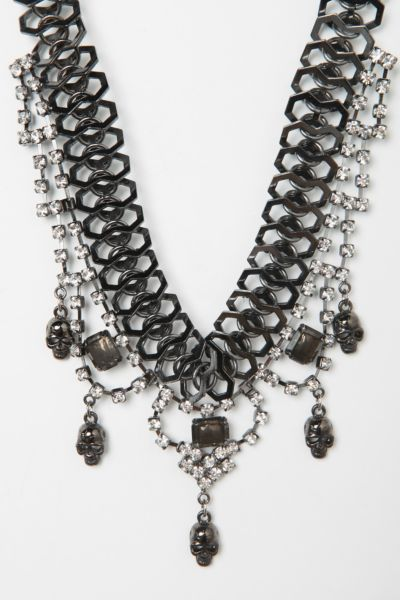 Sweet Scandal Rhinestone & Skull Necklace