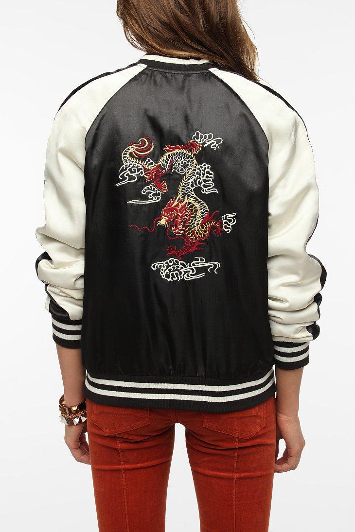 Silence noise embroidered back bomber jacket urban