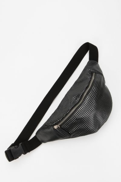 Deena & Ozzy Metallic Grid Belt Bag