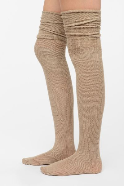 Scrunchy Wraparound Thigh-High Sock