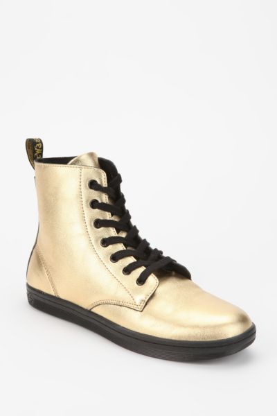 Dr. Martens Leyton Metallic Leather Sneaker-Boot