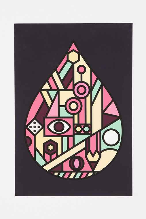 Brett Wilkinson Geometric Drop Art Print