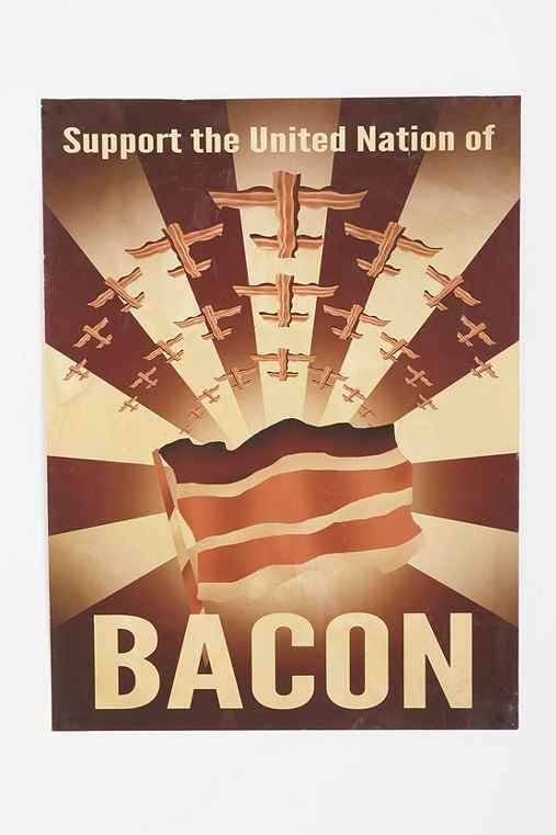 Aaron Wood For Just One Scarf Design Bacon Propaganda Art Print