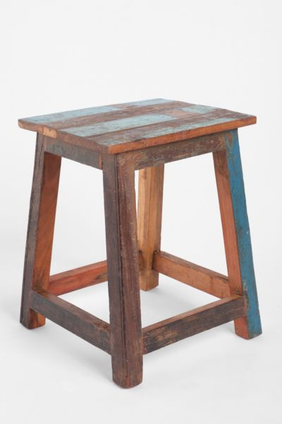 Reclaimed Wood Cabana Side Table