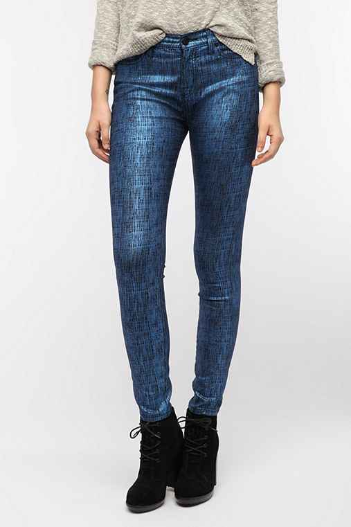 BDG Finished Cigarette High-Rise Jean - Metallic Finish