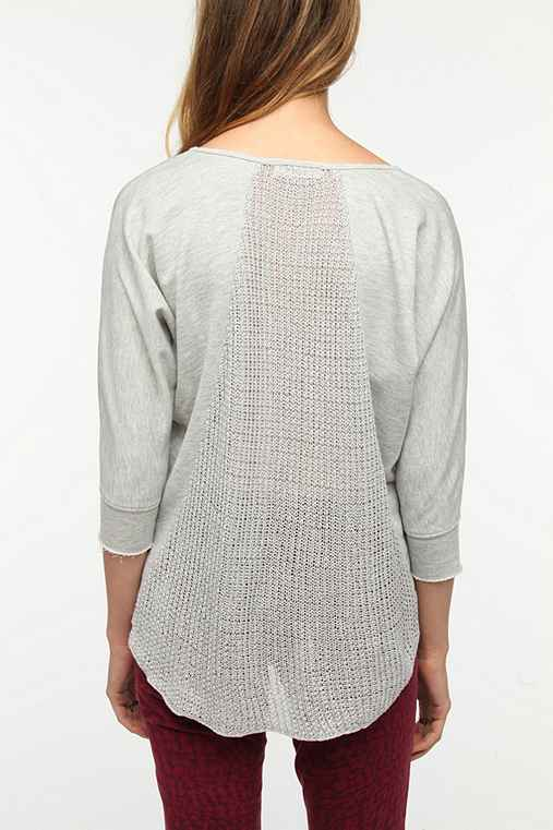 Pins and Needles Sweater-Back Sweatshirt