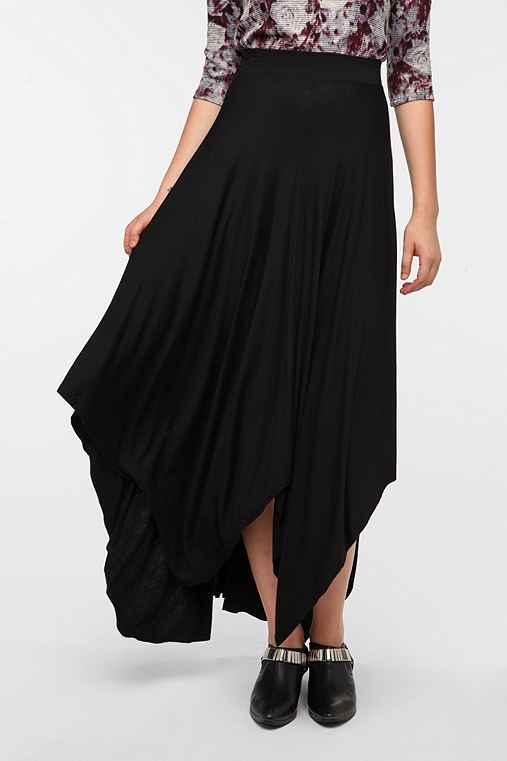 Sparkle & Fade Shark Bite Hem Maxi Skirt