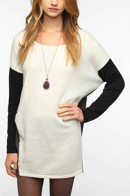 Silence & Noise Colorblock Sweater Dress