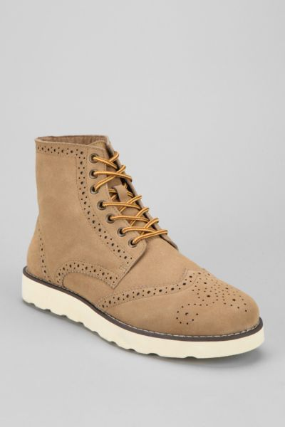 O'Hanlon Mills Suede Wingtip Brogue Boot