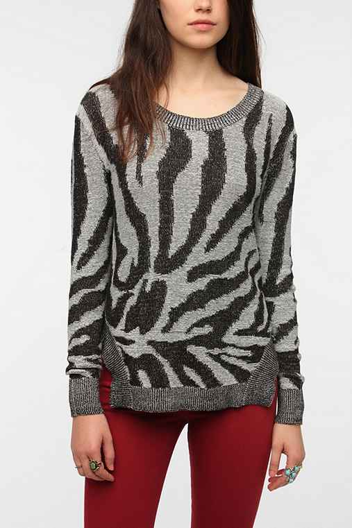 Silence + Noise Animal Print Sweater