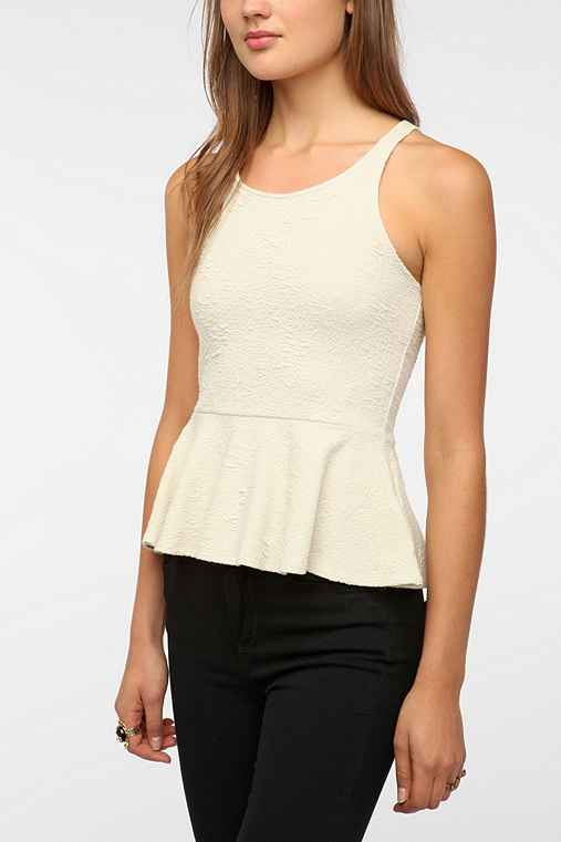 Pins and Needles Peplum Tank Top