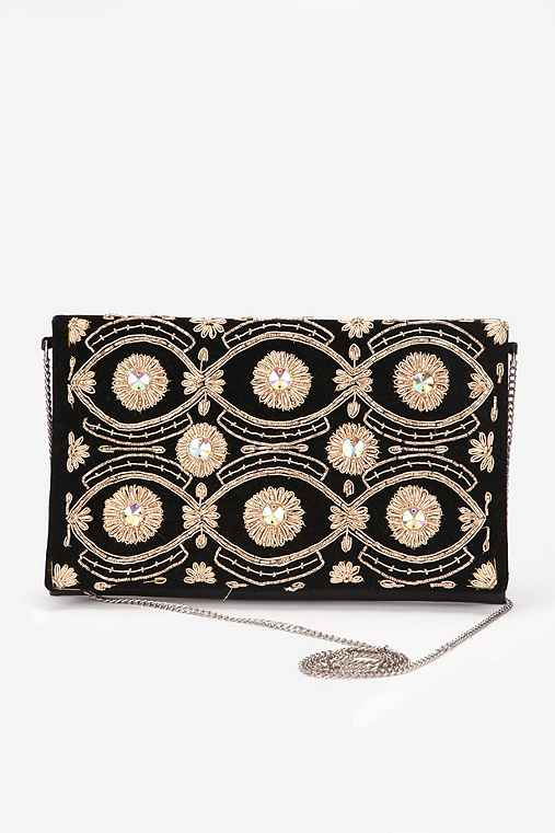 Ecote Embroidered Clutch