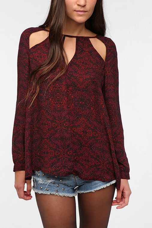 Ecote Spliced Cutout Blouse