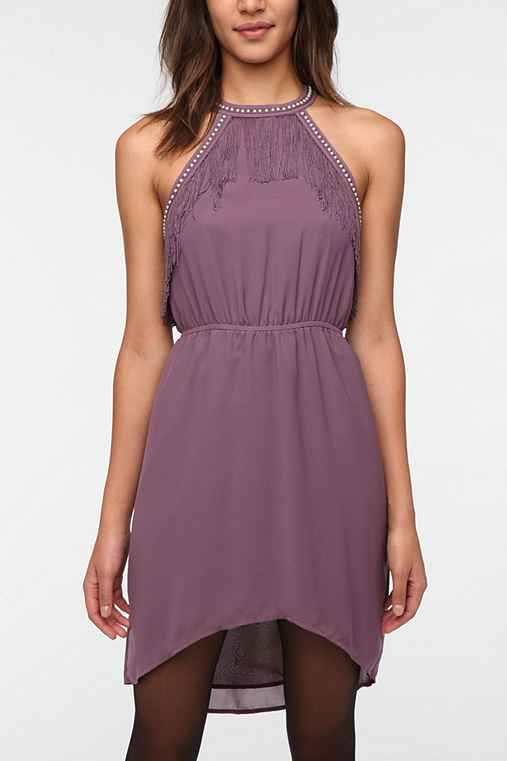 Ecote Chiffon Fringe Jenny Dress