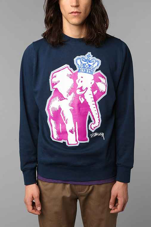 Stussy Elephant Crown Crew Sweatshirt