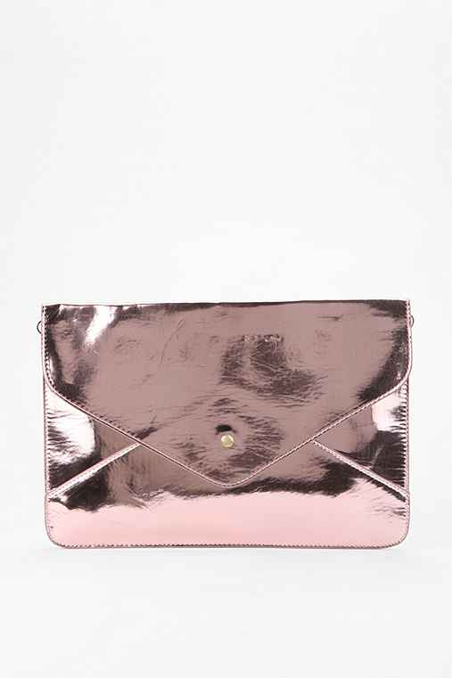remi & reid Metallic Envelope Satchel