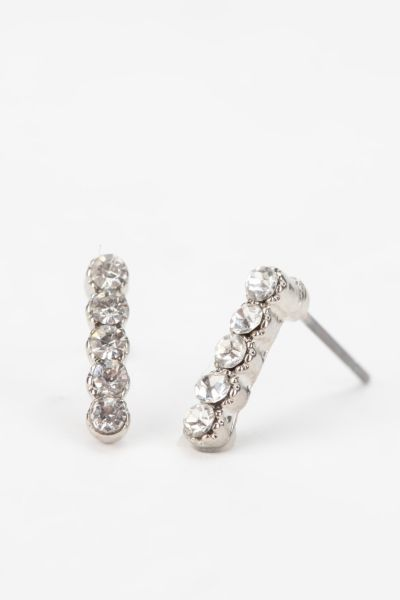 Rhinestone Bar Earring