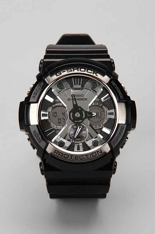 G-Shock Ga200 Silver Watch: Silver One Size M acc watches