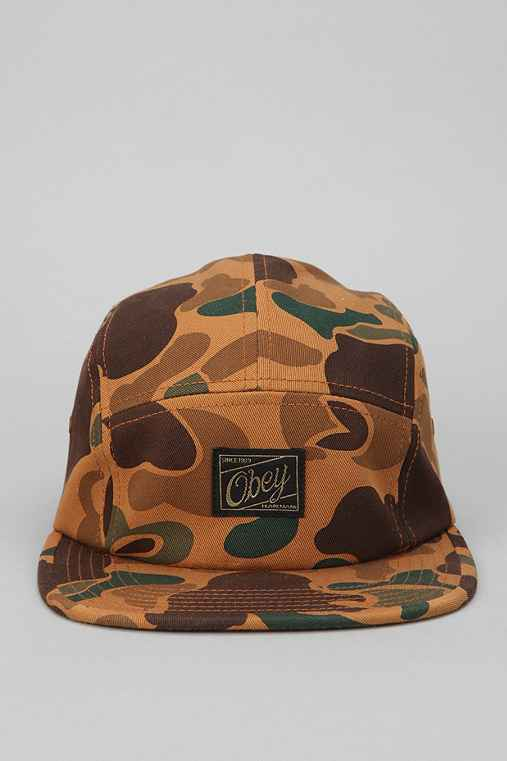 OBEY Auxiliary Harrington Camo 5-Panel Hat