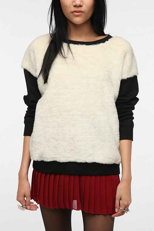 Family Faux Fur Sweater