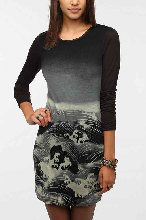 Silence & Noise Wave Print Dress