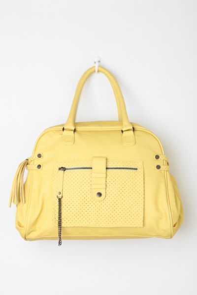Deena & Ozzy Perforated Tassel Satchel
