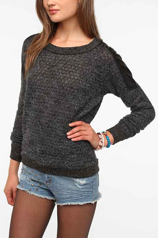Lucca Couture Shoulder Patch Sweater