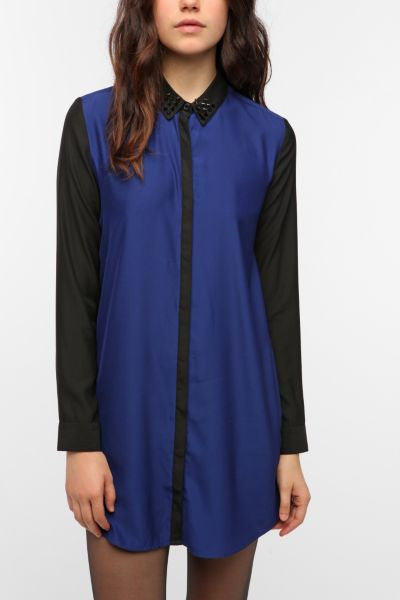 Silence & Noise Colorblock Shirtdress